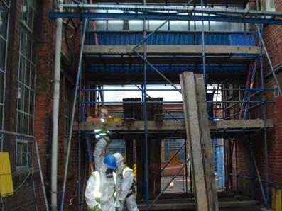 Asbestos Scaffold